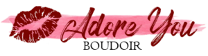 Lipstick kiss Adore You Boudoir Logo