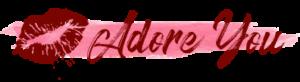 Lipstick kiss Adore You Boudoir Logo